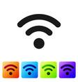 grey wi-fi wireless internet network symbol icon vector image vector image
