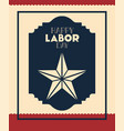happy labor day with star vector image vector image