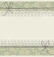 horizontal lace frame with flowers leaves and vector image vector image