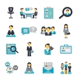 Human Resources Icons Flat vector image vector image