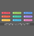 infographic design business concept with 9 steps vector image vector image