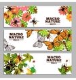Insects Horizontal Banners vector image vector image