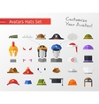 Isolated flat design hats and caps for social vector image vector image