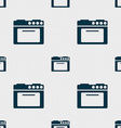 kitchen stove icon sign Seamless pattern with vector image