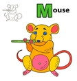 Mouse Coloring book page vector image