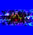 pattern of shimmering triangles in blue colors vector image vector image