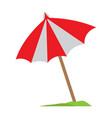 picnic umbrella icon vector image