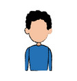 portrait man male character profile avatar people vector image