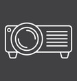 projector line icon presentation and meeting vector image vector image