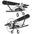 retro biplane vector image vector image