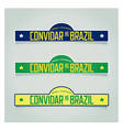 Retro labels - Welcome to Brazil vector image
