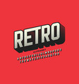 retro style font retro alphabet letters and vector image vector image