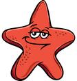sea starfish cartoon vector image vector image