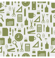 seamless pattern with office stationery icons vector image vector image