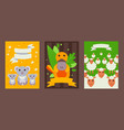 set banners with cute australian animals in vector image vector image