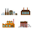 set of production industrial building isolated on vector image vector image
