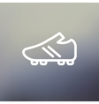 Soccer Shoes thin line icon vector image vector image