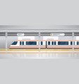 subway underground platform with modern train vector image vector image
