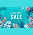 summer sale background with nature tropical vector image vector image