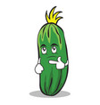 thinking cucumber character cartoon collection vector image vector image