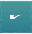 Tobacco pipes flat icon vector image
