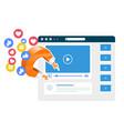 viral video content promotion - magnet smm vector image