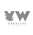 vw v w zebra letter logo design with black and vector image vector image