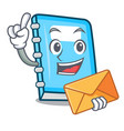 with envelope education character cartoon style vector image