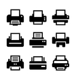 Print Icon Set vector image