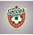 Soccer league badge vector image