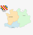 administrative and political map belgian vector image vector image