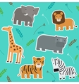 African Animals Seamless Pattern vector image vector image