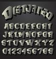 alphabet font distorted design vector image vector image
