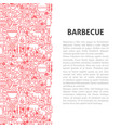 barbecue line pattern concept vector image vector image