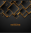 black and bronze squares abstract geometric vector image vector image