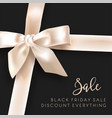 black friday sale discounts design with ribbon vector image