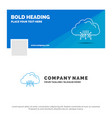 blue business logo template for cloud computing vector image vector image