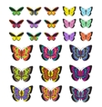 Butterfly set isolated on white background vector image