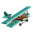cartoon airplane plastic toy for children flying vector image vector image