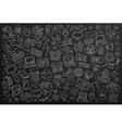 Chalkboard hand drawn Doodle set equipment vector image vector image