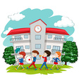 Children in school band at school vector image vector image