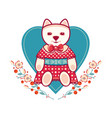 childrens toy cute dogs vector image vector image