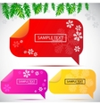 christmas bubbles for speech vector image