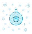 christmas toy ball and snowflakes vector image vector image