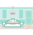 classic bedroom interior in cold colors vector image vector image