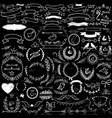 Collection handdrawn decorative design elements