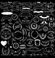 Collection of handdrawn decorative design elements vector image