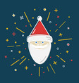 colored santa claus icon in thin line style vector image