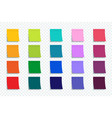 colorful stickers set isolated on transparent vector image vector image