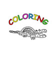 crocodile reptile hand drawing coloring page vector image vector image